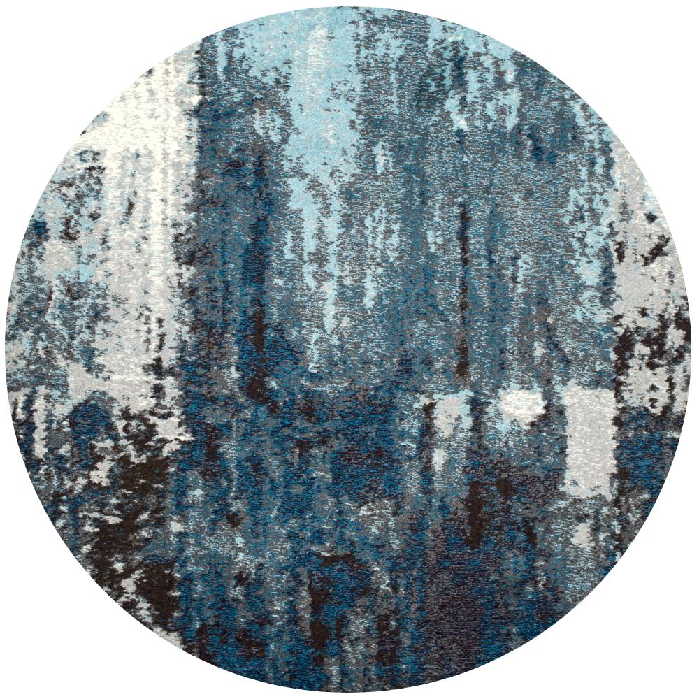 Nuloom Abstract Haydee Blue 5 Ft Round Rug Eccr22a R505