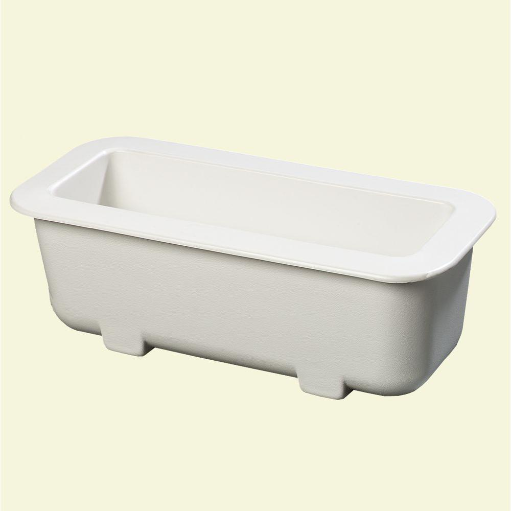 null 6 in. Deep Half Size Long Cold Pan in White