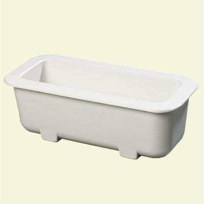 6 in. Deep Half Size Long Cold Pan in White