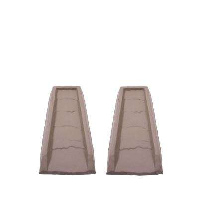Block Natural Gutter Down Spout Splash (2-Pack)