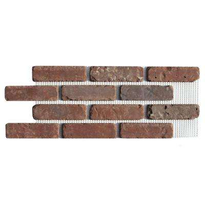 Brickweb Boston Mill 28 in. x 10-1/2 in. x 1/2 in. Clay Thin Brick Flats 8.7 sq. ft. (5-Box)