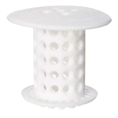 1.5 in. - 1.75 in. Drain Protector Hair Catcher in White