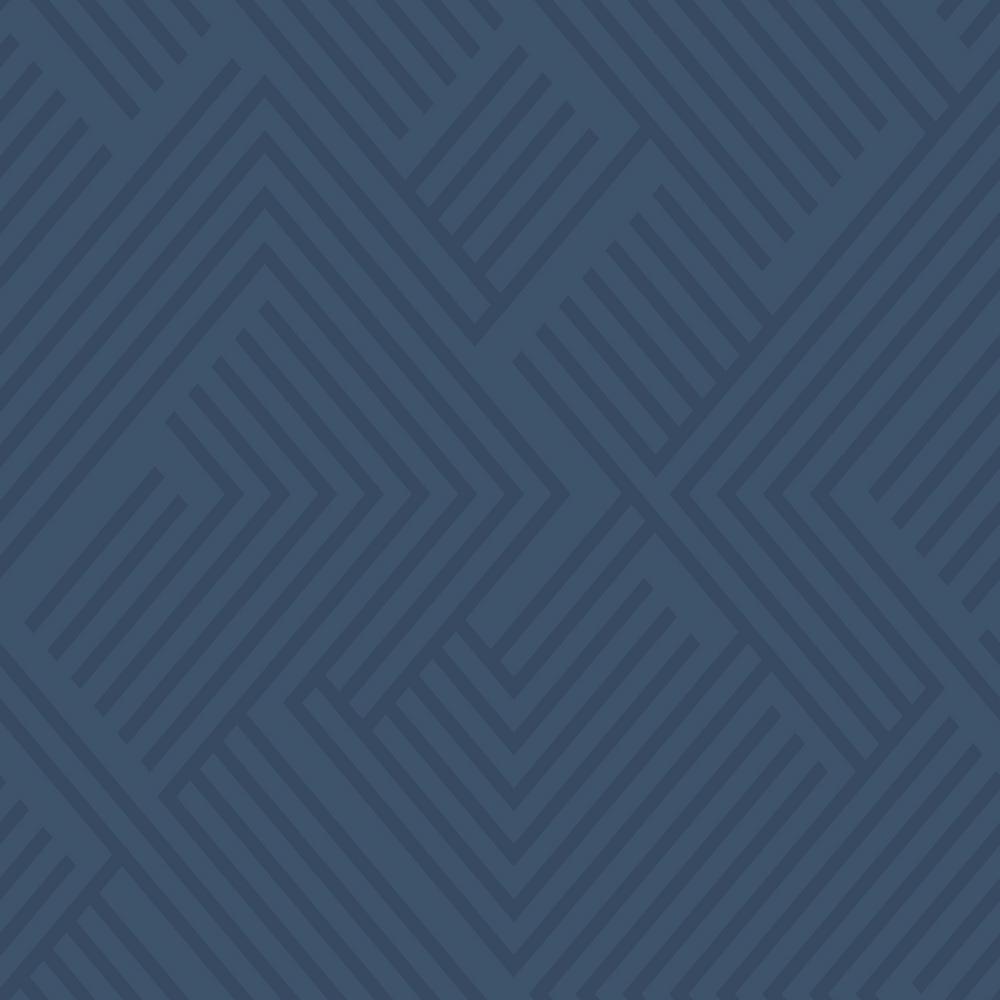 28.18 sq. ft. Blue Perplexing Peel and Stick Wallpaper