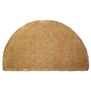 Imperial Plaid Half Round 20 in. x 33 in. Coir Door Mat