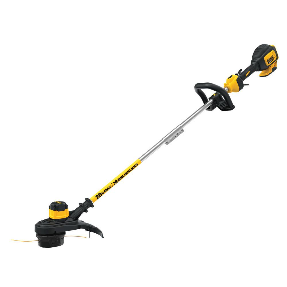 DEWALT 20-Volt MAX Lithium-Ion Cordless 13 in  Brushless Dual Line String  Grass Trimmer (Tool Only)