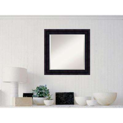 Annatto Mahogany Wood 25 in. x 25 in. Traditional Framed Mirror