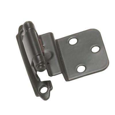 3/8 in. Oil Rubbed Bronze Self-Closing Inset Hinge (1-Pair)