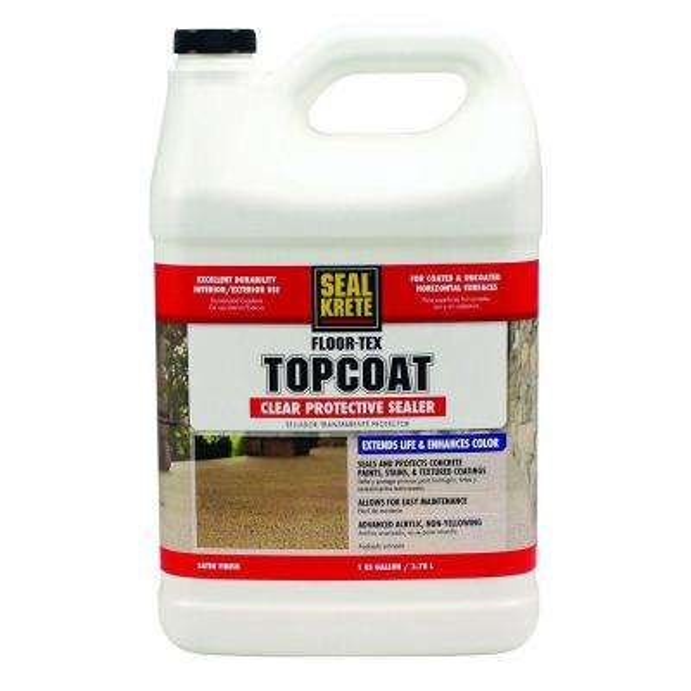 Floor-Tex 1 gal. Clear Satin Interior and Exterior Top Coat Sealer