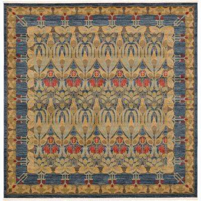 Heritage Navy Blue 10 ft. x 10 ft. Square Area Rug