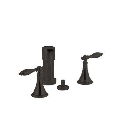 Finial 2-Handle Bidet Faucet in Oil-Rubbed Bronze