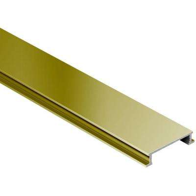 Designline Satin Brass Anodized Aluminum 1/4 in. x 8 ft. 2-1/2 in. Metal Border Tile Edging Trim