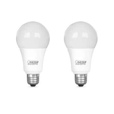 75-Watt Equivalent A19 Dimmable CEC Title 24 Compliant LED ENERGY STAR 90+ CRI Light Bulb, Bright White (2-Pack)