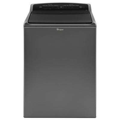 4.8 cu. ft. High-Efficiency Top Load Washer with Built-In Water Faucet in Chrome Shadow, Intuitive Touch Controls