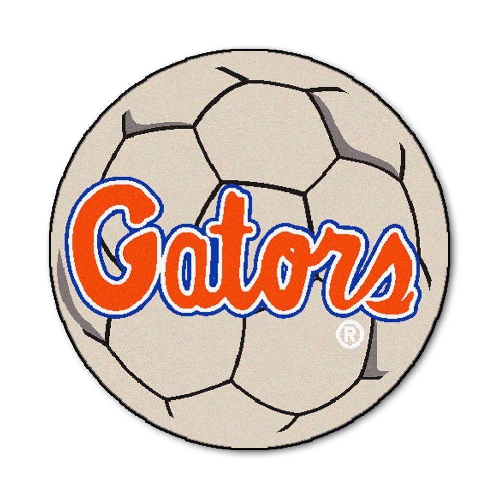 NCAA University of Florida Gators Script Logo Cream 2 ft. x 2 ft. Round Area Rug