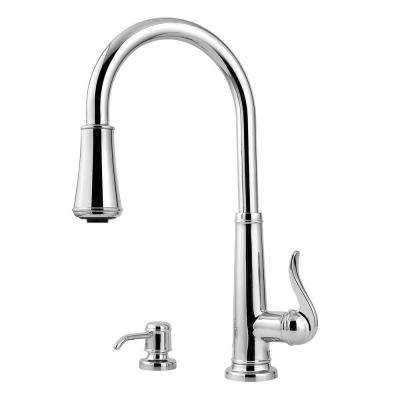 Ashfield Single-Handle Pull-Down Sprayer Kitchen Faucet in Polished Chrome