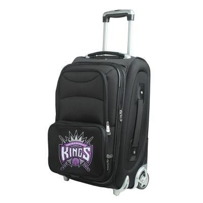 Denco NBA Sacramento Kings 21 in. Black Carry-On Rolling Softside Suitcase
