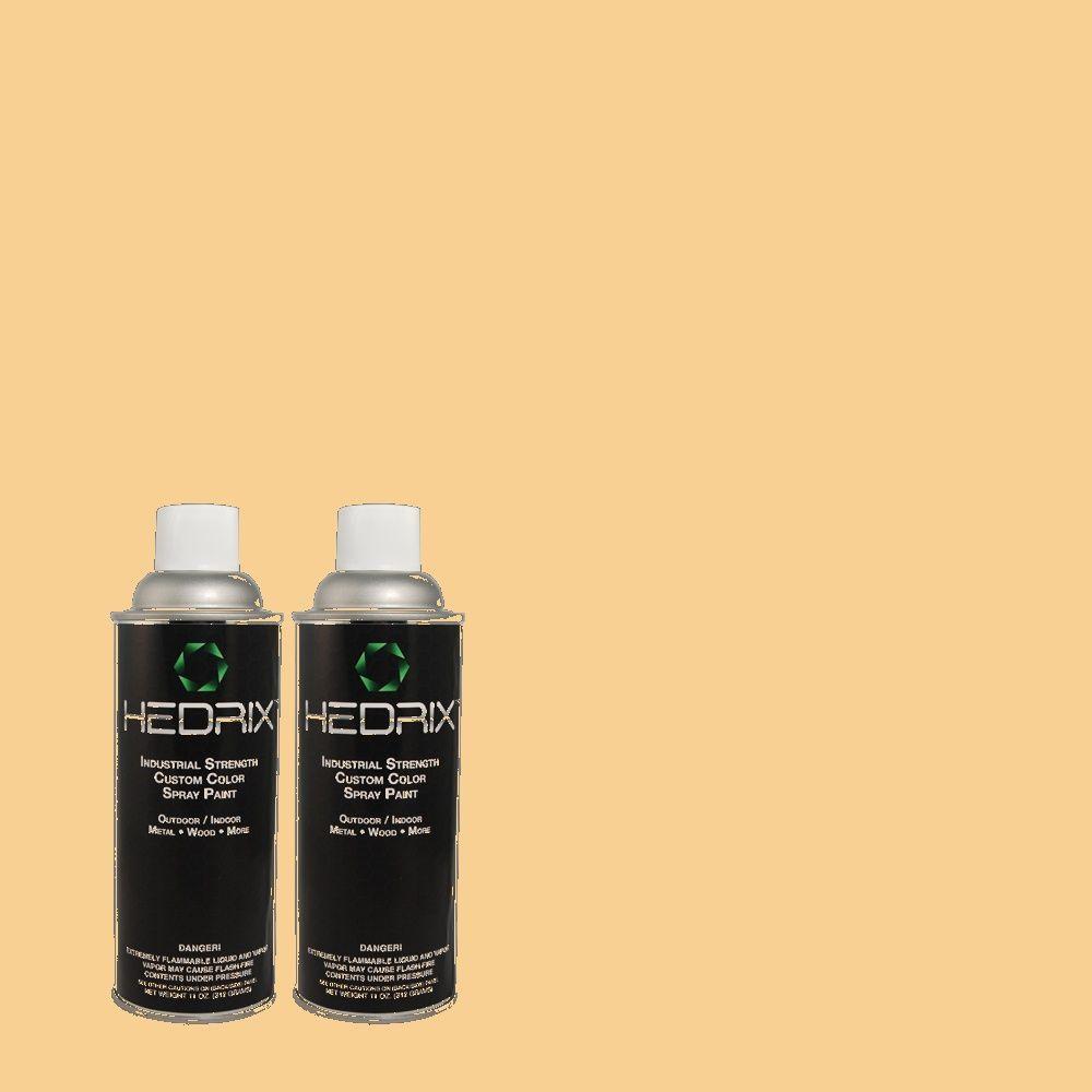 Hedrix 11 oz. Match of 300C-3 Bagel Semi-Gloss Custom Spray Paint (2-Pack)