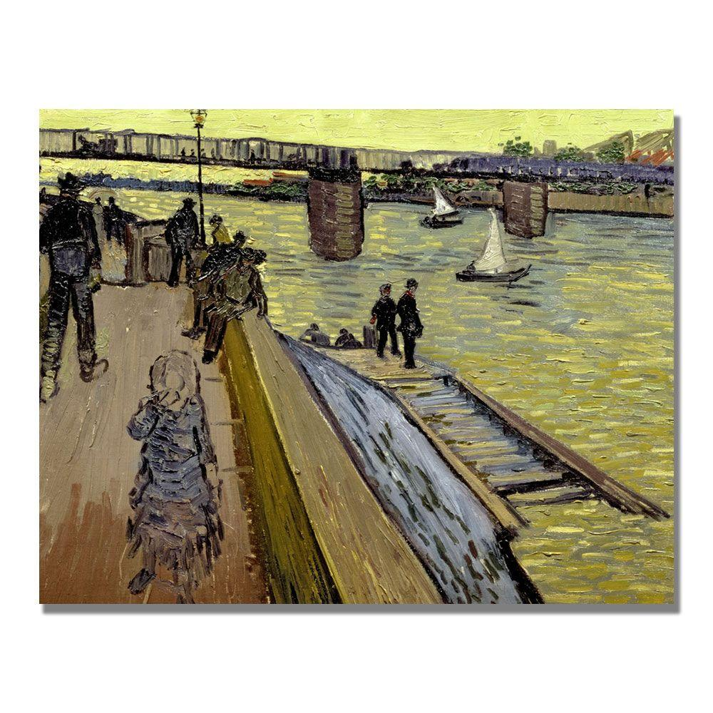 35 in. x 47 in. Le Pont De Trinquetaille Canvas Wall