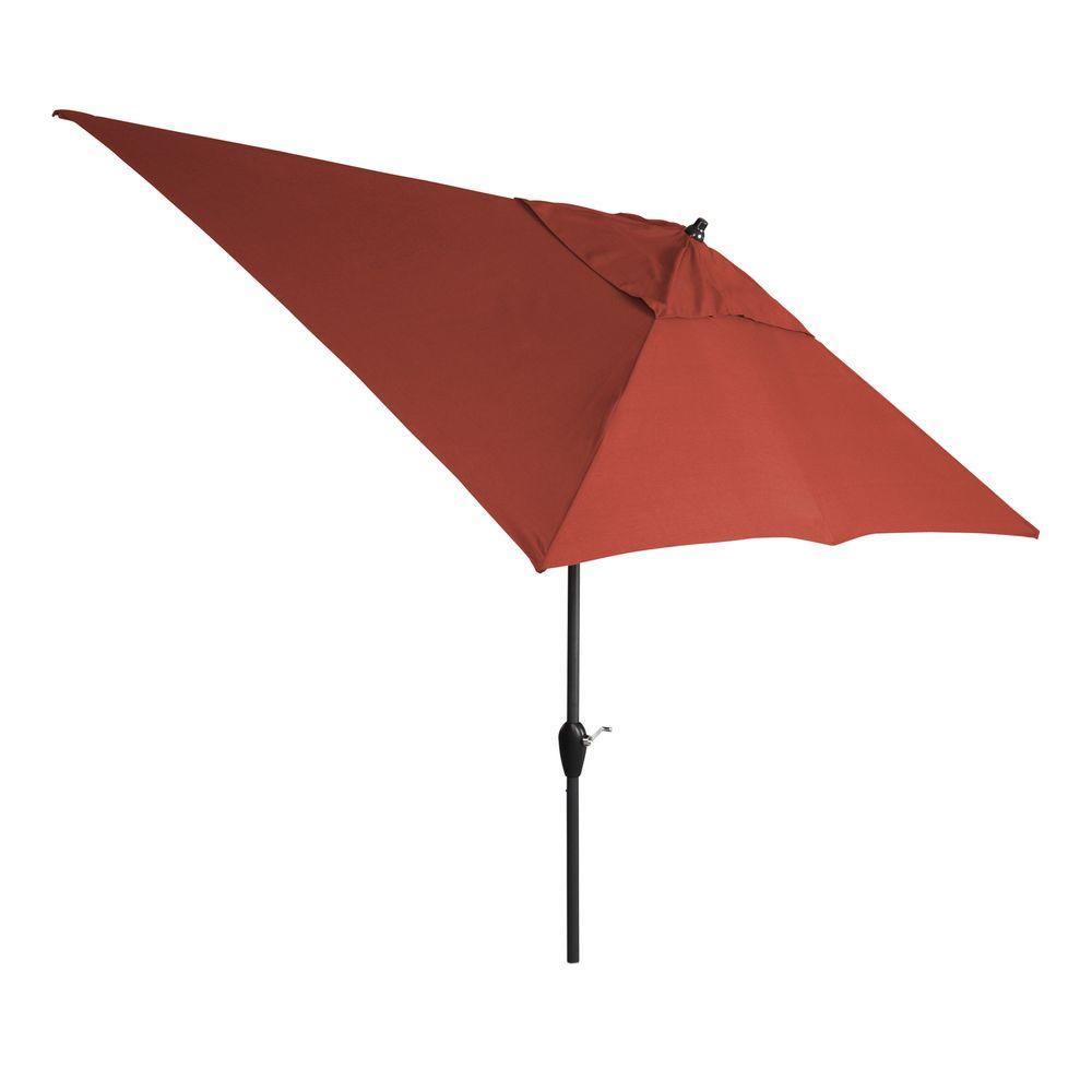 10 ft. x 6 ft. Aluminum Patio Umbrella in Sunbrella Canvas