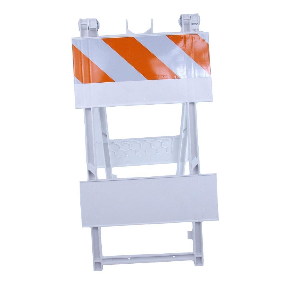 Three D Traffic Works 8 in. EG Sheeting Plastic Type I Folding Barricade