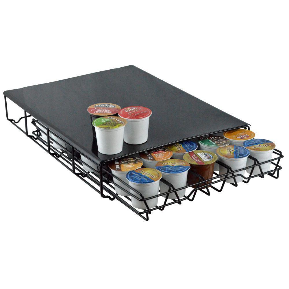 Southern Homewares Keurig 35 Capacity K Cup Storage Drawer Coffee Holder  Black