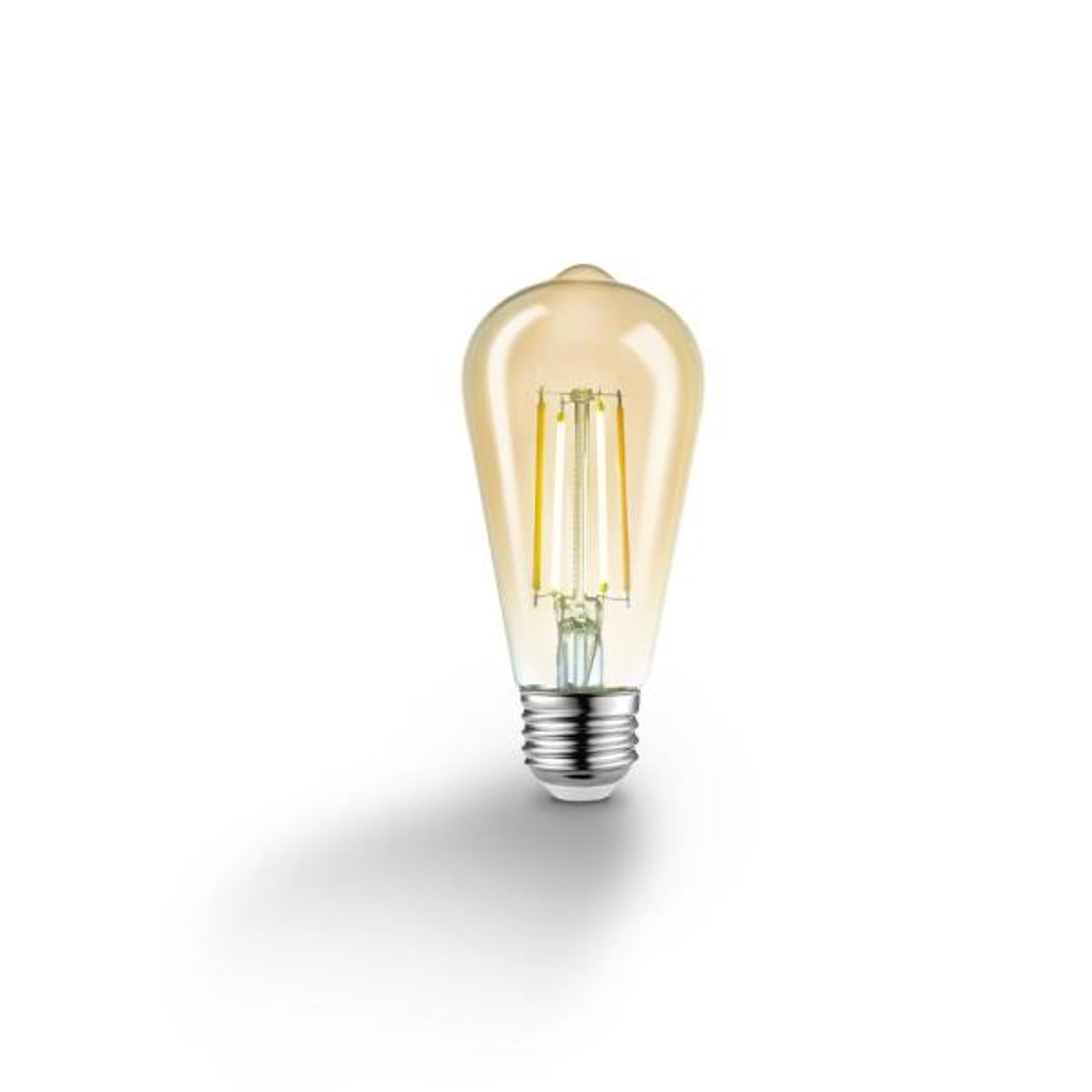 60-Watt Equivalent Wi-Fi Smart ST19 Vintage Edison Filament Tunable White Amber Glass LED Light Bulb