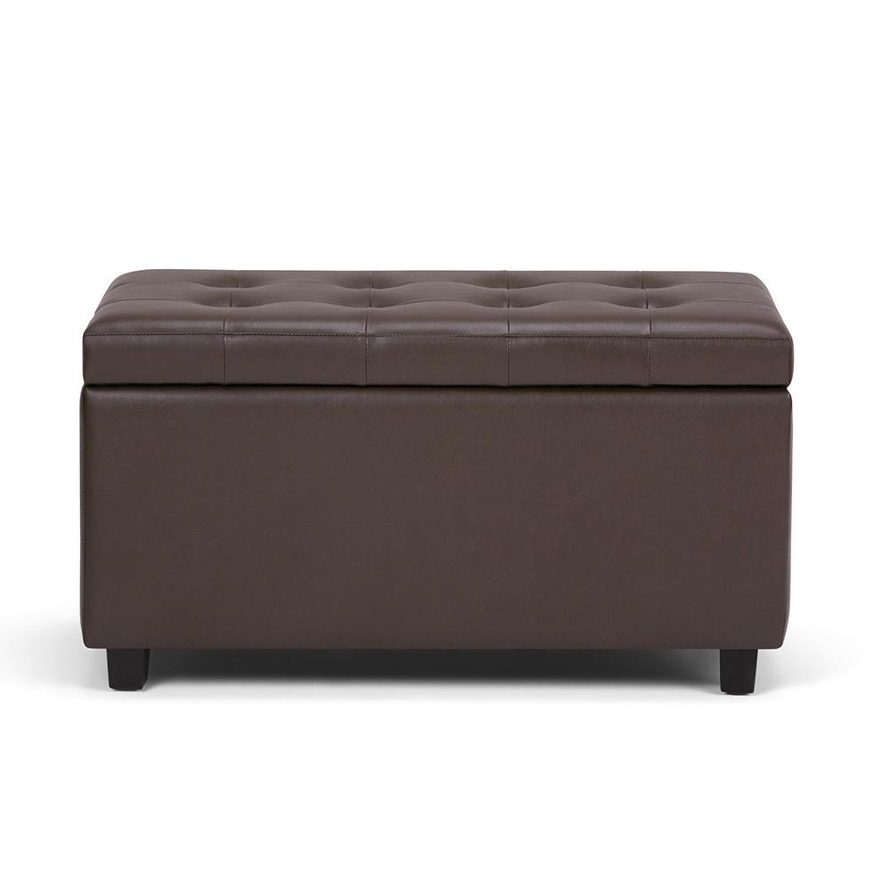 Cosmopolitan Chocolate Brown Medium Storage Ottoman Bench