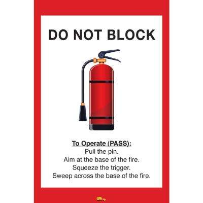 36 in. x 42 in. Do Not Block Fire Extinguisher Safety Floor Sign