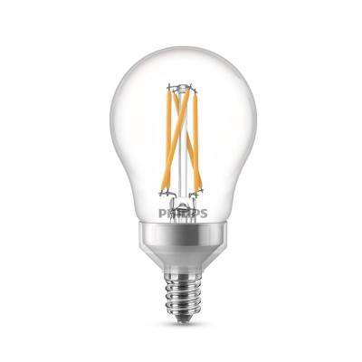 40-Watt Equivalent A15 Dimmable with Warm Glow Dimming Effect Candelabra Base LED Light Bulb Soft White (2-Pack)