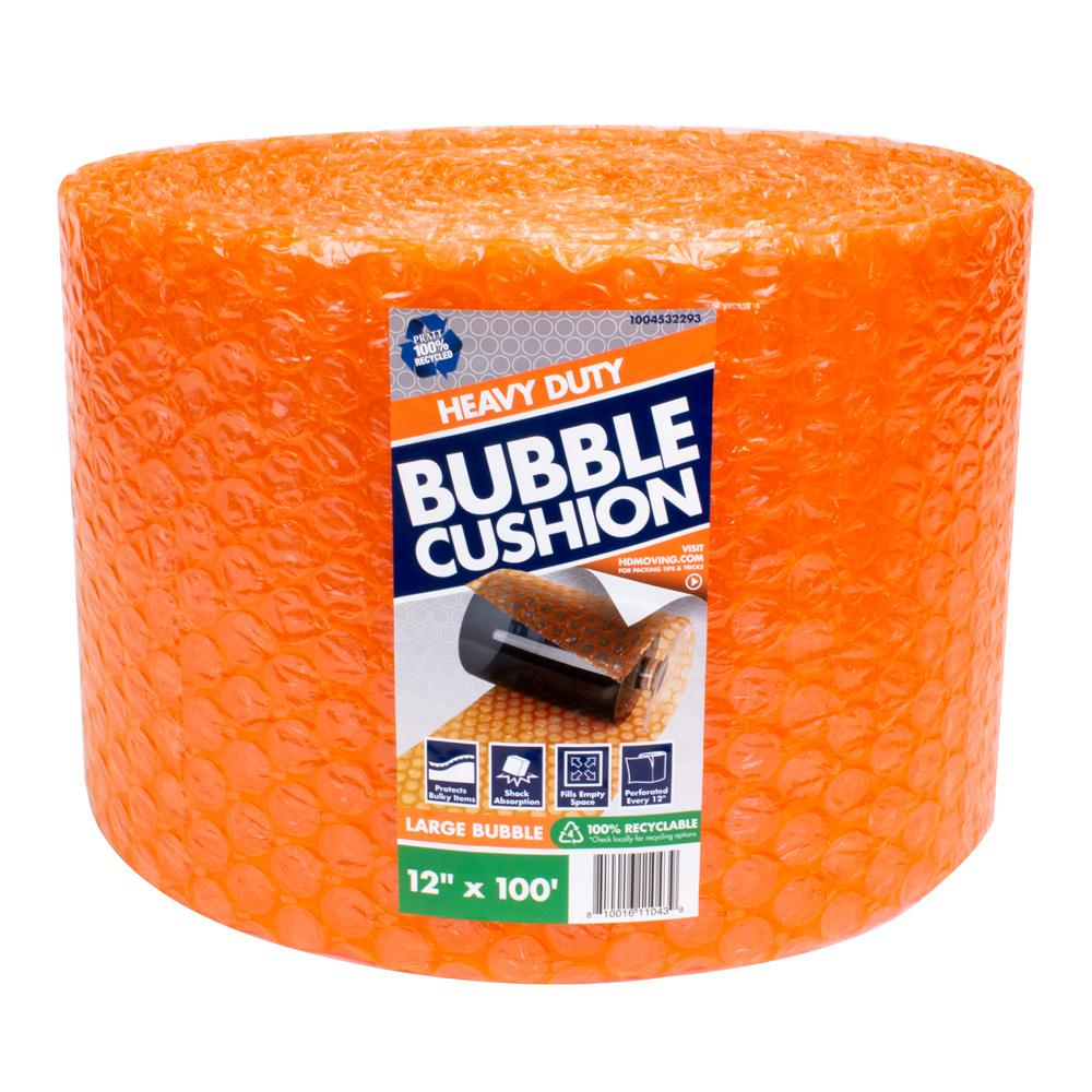 Pratt Retail Specialties 5/16 in. x 12 in. x 100 ft. Perforated Bubble Cushion Wrap