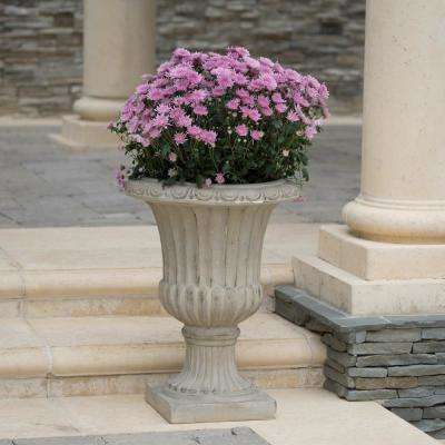 Antique Green Italian 26-inch Urn Planter
