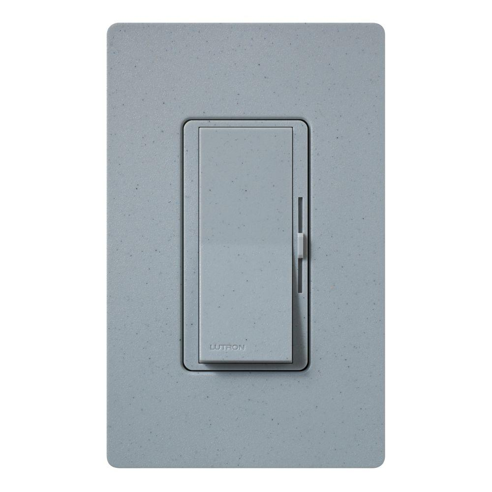 Lutron Diva Electronic Low Voltage Dimmer, 300-Watt, Single-Pole or 3-Way, Bluestone