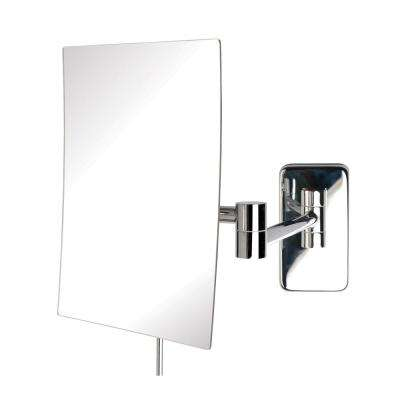 9 in. x 10 in. Wall Mirror in Chrome