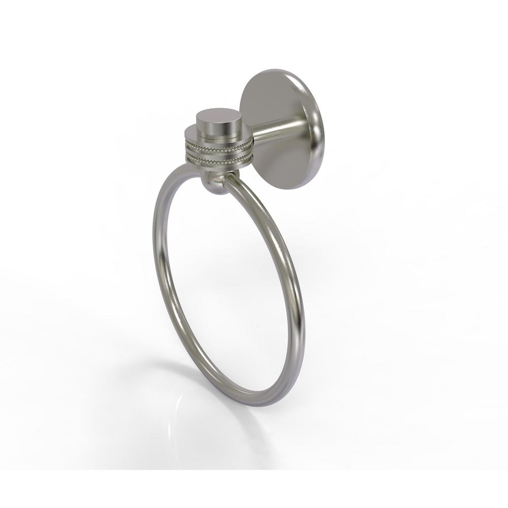 Satellite Orbit One Collection Towel Ring with Dotted Accent in Satin