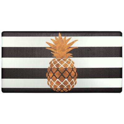 Cook N Comfort Gold Pineapple 20 in. x 39 in. Kitchen Mat