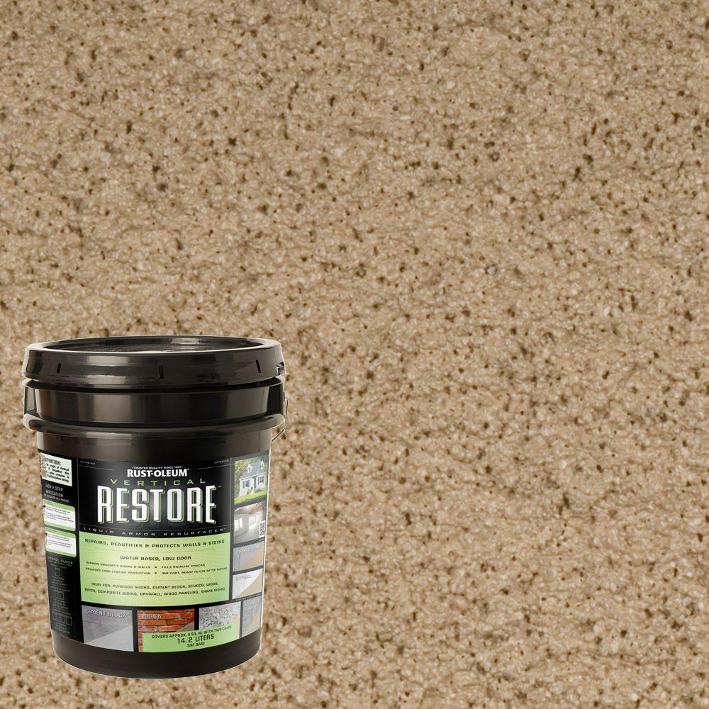Rust-Oleum Restore 4-gal. Taupe Vertical Liquid Armor Resurfacer for Walls and Siding