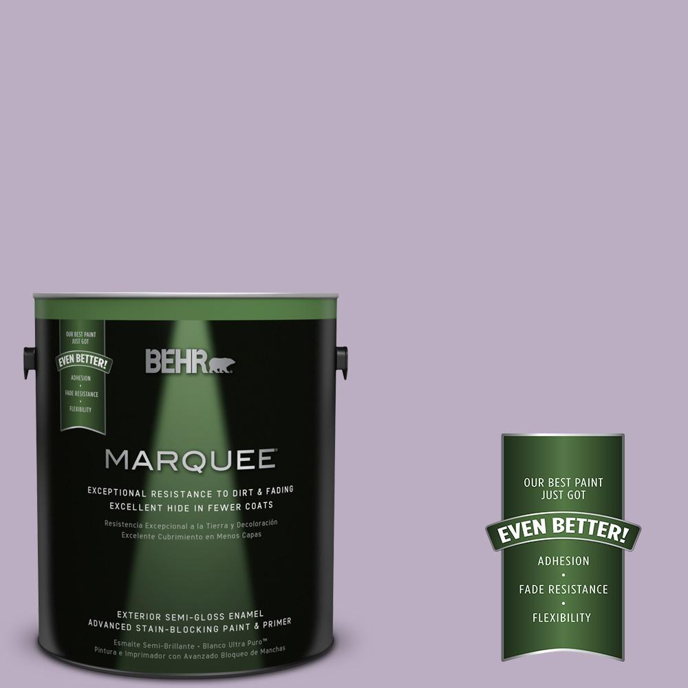 BEHR MARQUEE 1-gal. #S100-3 Courtly Purple Semi-Gloss Enamel Exterior Paint
