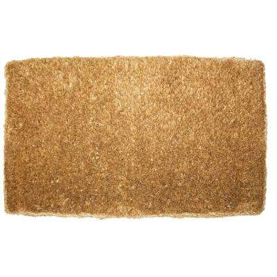 22 in. x 36 in. Brush Plain Coco Door Mat