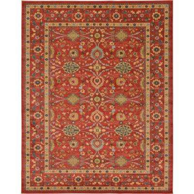 Heritage Red 10 Ft X 13 Area Rug