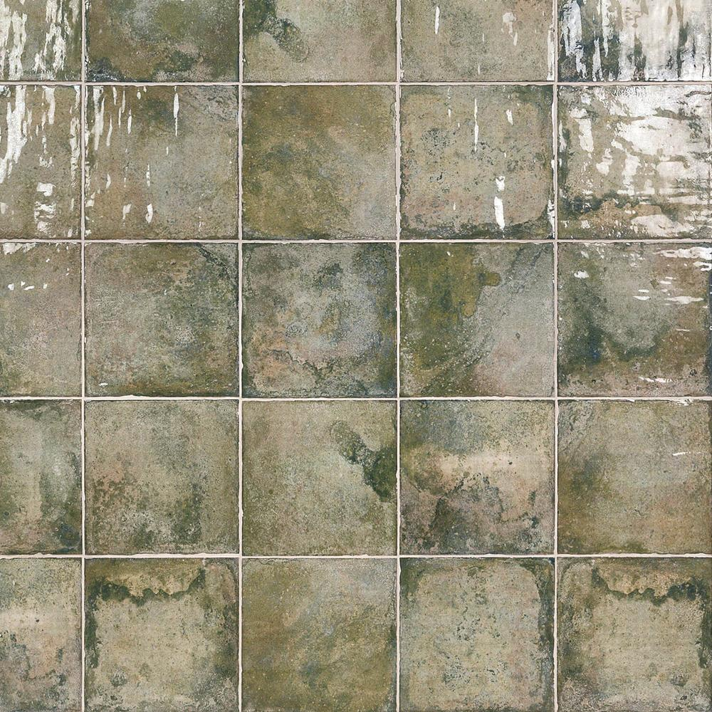 Ivy Hill Tile Angela Harris Green 8 in. x 8 in. x 9mm Polished Ceramic Wall Tile (25 pieces / 10.76 sq. ft. / box)