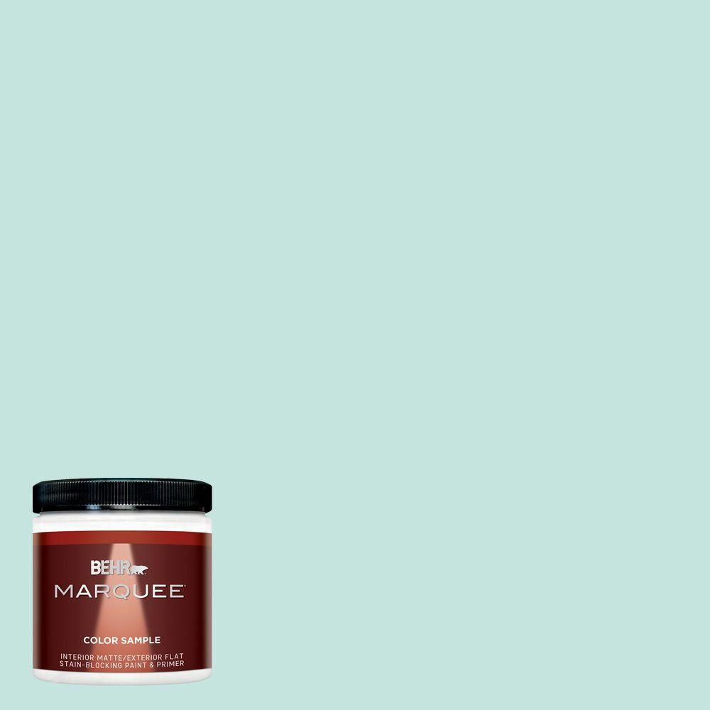 BEHR MARQUEE 8 oz. #MQ3-19 Misty Isle Matte Interior/Exterior Paint and Primer Sample