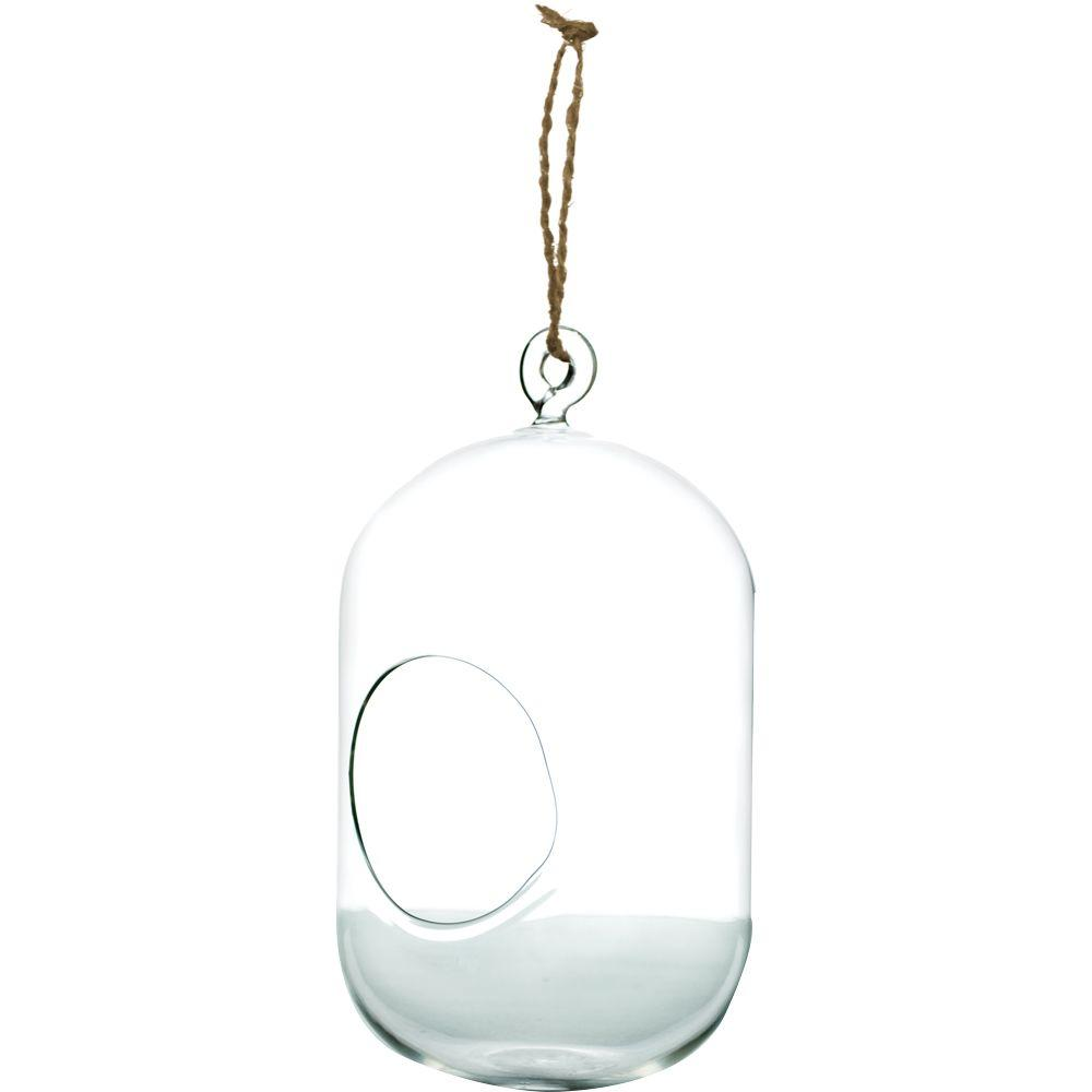 Pride Garden Products Mika 5 In X 7 5 In Glass Hanging Capsule