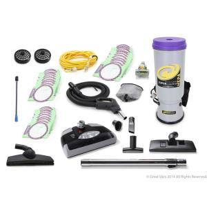 New Sierra Backpack Proteam Commercial Vacuum Cleaner with 1 1//2 tools and restaurant kit