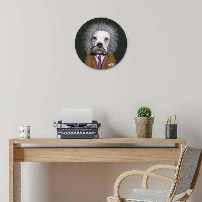 "16 in. Pets Rock ""Brain"" Glass Wall Clock"