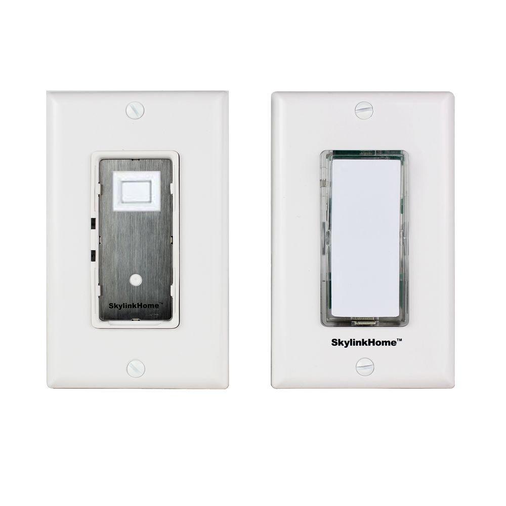 Wireless DIY 3-Way On/Off Lighting Control Wall Switch Set -White