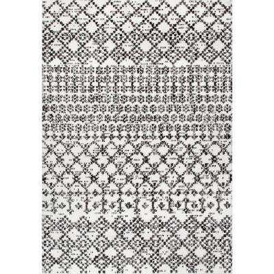 Milly Trellis Gray 5 ft. x 8 ft.  Area Rug