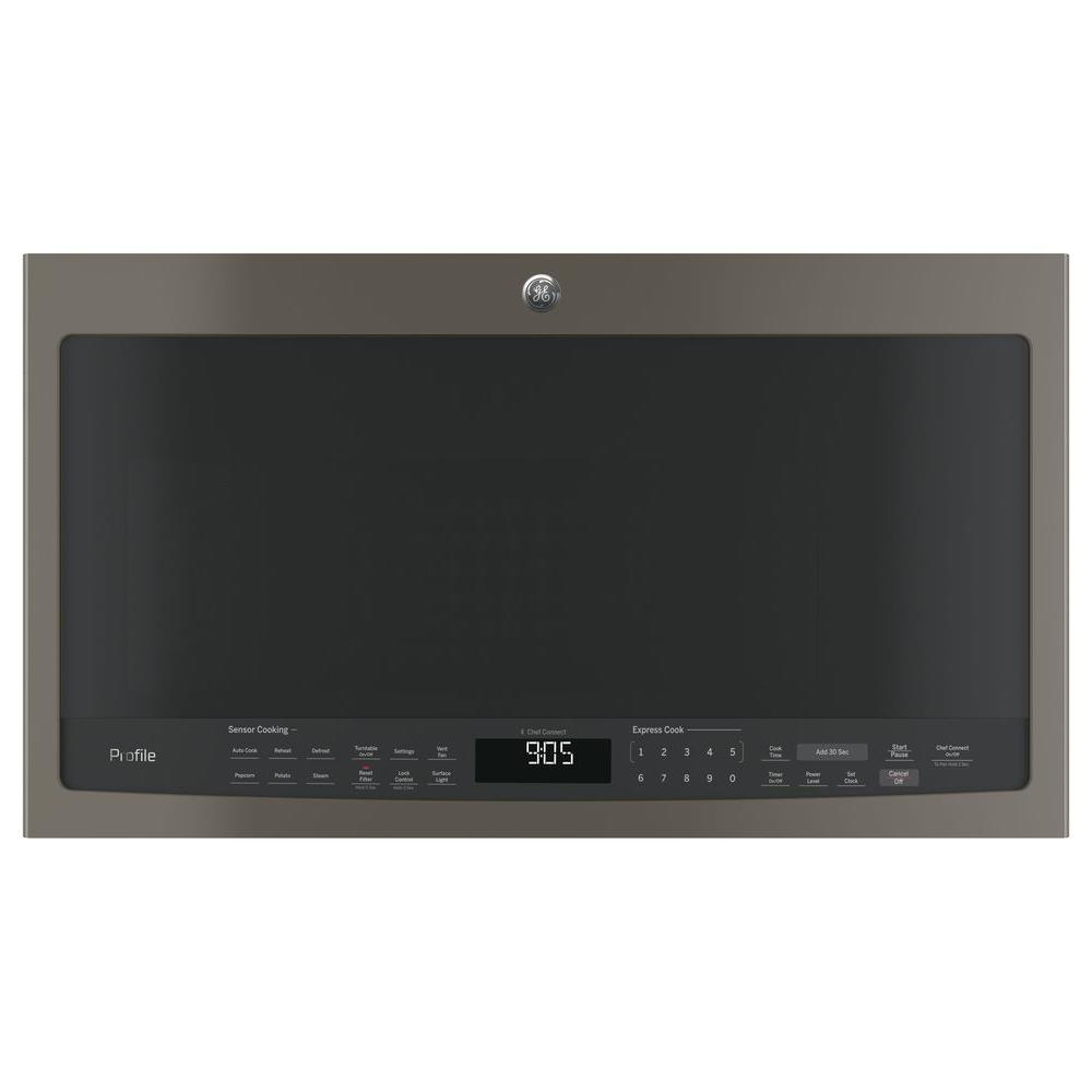 2.1 cu. ft. Over the Range Sensor Microwave Oven in Slate