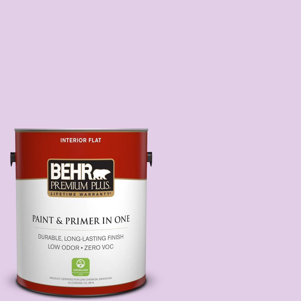 BEHR Premium Plus 1-gal. #P100-2 Sweet Romance Flat Interior Paint