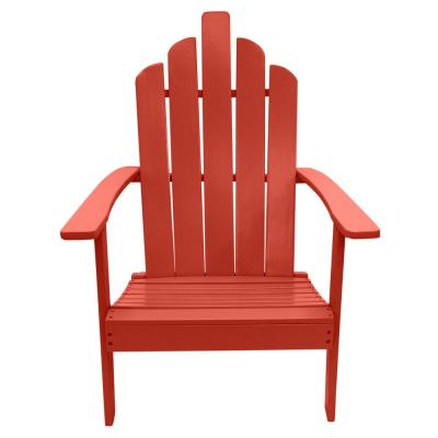 Marley Red Wood Adirondack Outdoor Patio Chair