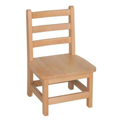 Atlas Natural Wood Classroom Chair with 10 in. Seat Height